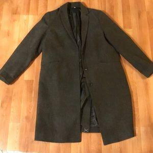 Muji Tailored Medium Green Wool blend coat
